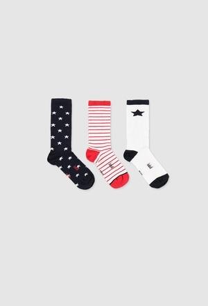 Pack meias curtas para o bebé menino_1