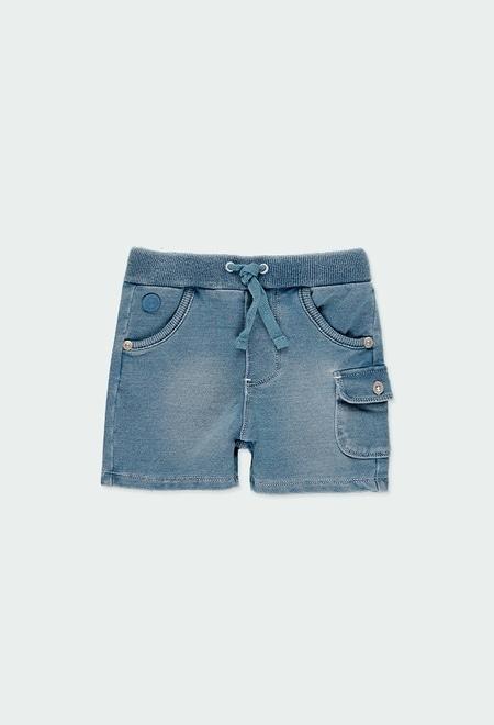 Bermuda en molleton jean pour bébé garçon_1