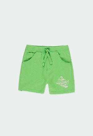 Bermuda tricot flame pour bébé garçon_1