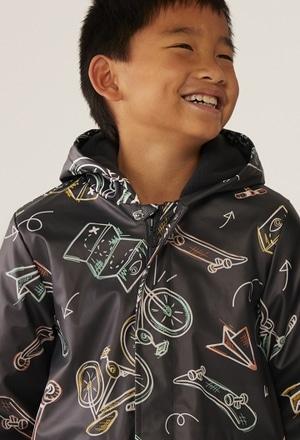 Hooded raincoat for boy_1