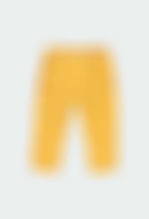 Pantalón gabardina elástica de bebé niño