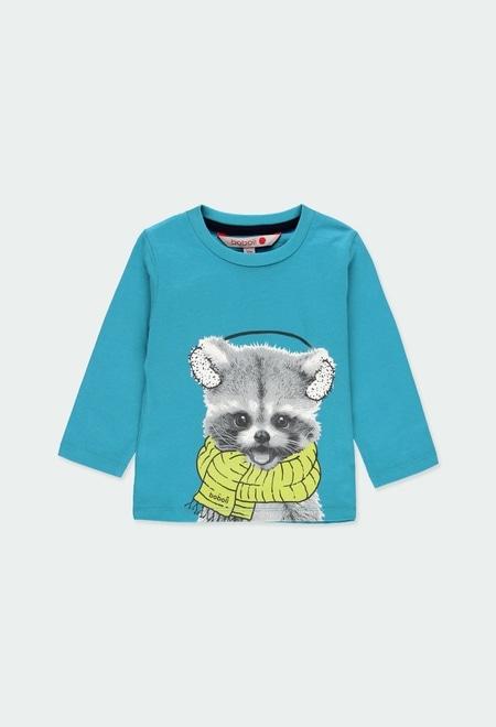 """Camiseta malha """"animais"""" para o bebé menino_1"""