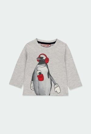 """Camiseta punto """"animales"""" de bebé niño_1"""