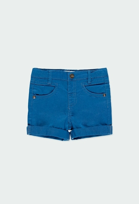 Stretch gabardine bermuda shorts for baby boy_1