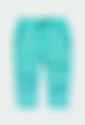 Pantalón gabardina forrado de bebé niño