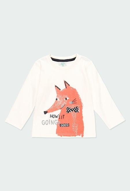 T-Shirt gestrickt gedruckt für baby junge_1