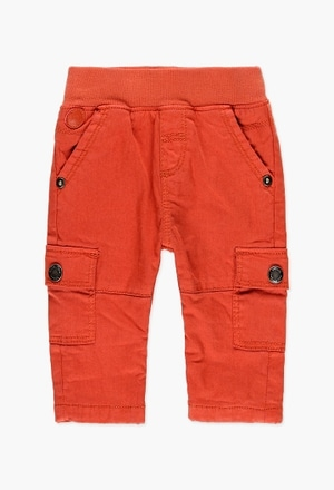 Gabardine trousers lined for baby boy_1