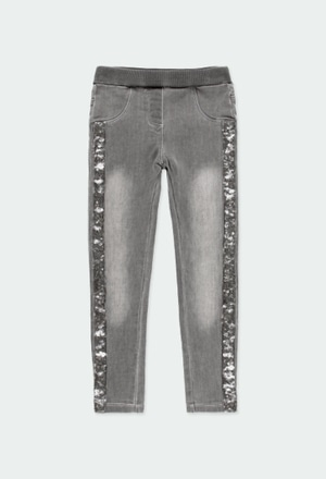 Stretch denim trousers for girl_1