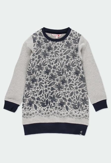 Fleece dress floral for girl_1