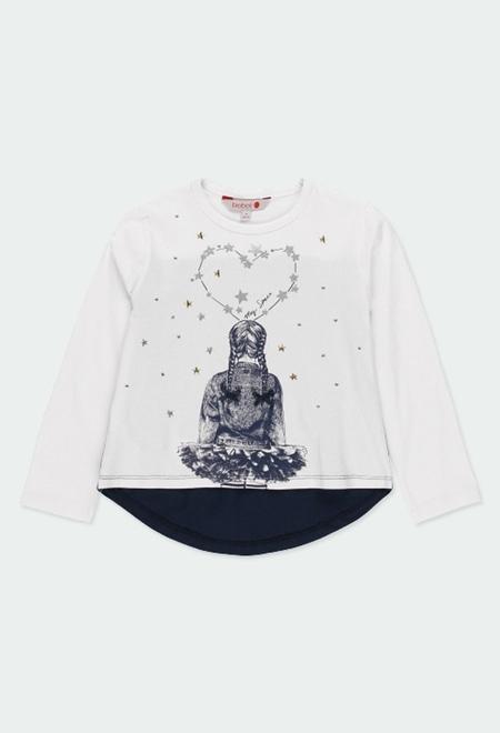 """T-Shirt tricot """"étoiles"""" pour fille_1"""