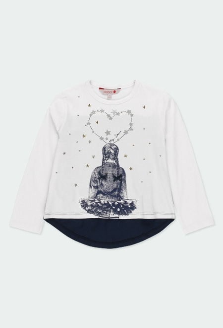 """Knit t-Shirt """"stars"""" for girl_1"""