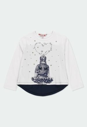 """T-Shirt gestrickt """"sterne"""" für mädchen_1"""
