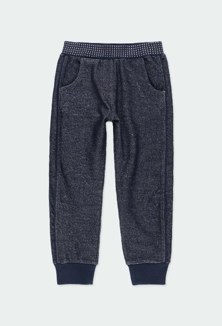 Pantalón felpa elástica de niña_1