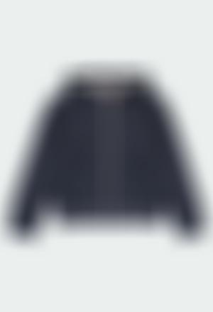 Casaco felpa bicolor para menina