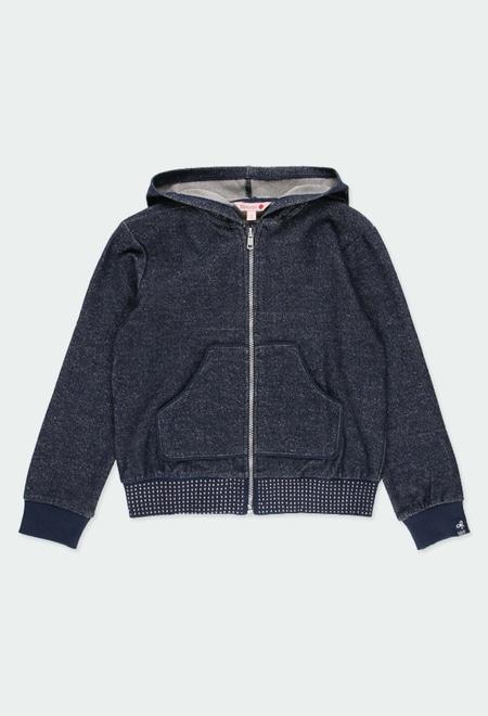 Fleece jacket bicolour for girl_1
