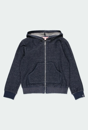 Fleece jacket bicolour for girl_1
