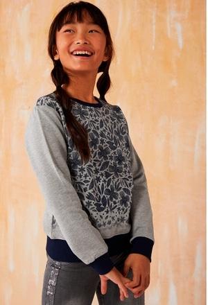 Fleece sweatshirt floral for girl_1