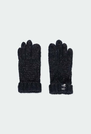Knitwear gloves for girl_1