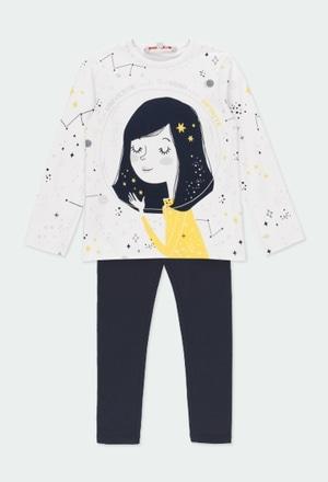 Pack en tricot imprimé pour fille_1