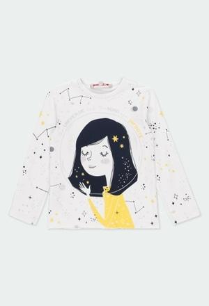 "Camiseta malha ""estrelas"" para menina_1"