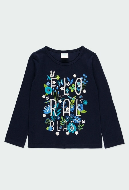 """T-Shirt tricot """"a fleurs"""" pour fille_1"""