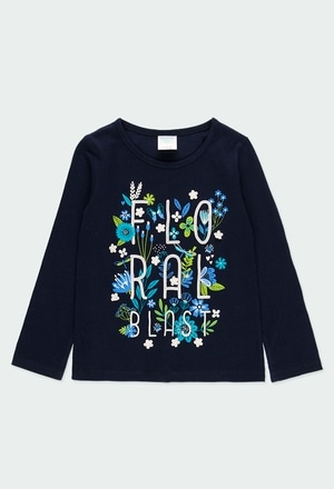 """Camiseta punto """"floral"""" de niña_1"""