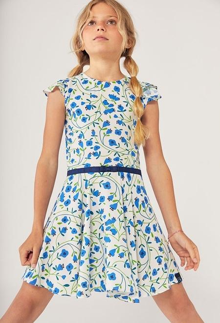 Vestido viscose floral para menina_1