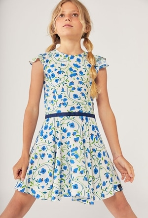 Viscose dress floral for girl_1