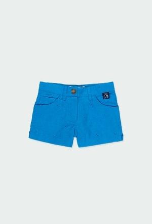 Batiste bermuda shorts embroidered for girl_1