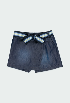 Falda-short denim de niña_1
