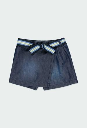 Jupe-short jean pour fille_1