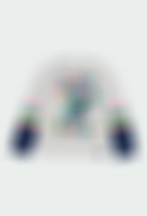 Camiseta punto con bandas de niña