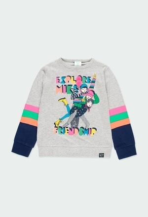 Maglietta jersey con strisce per ragazza_1