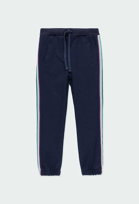Pantalon avec bandes pour fille_1