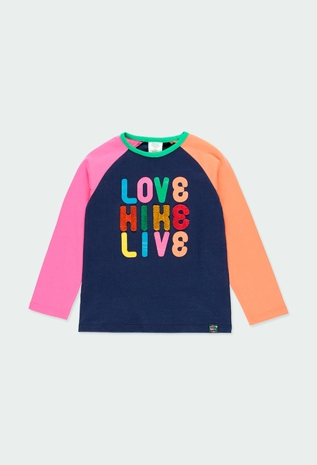 """Knit t-Shirt """"letters"""" for girl_1"""