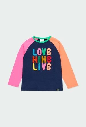 """Maglietta jersey """"lettere"""" per ragazza_1"""