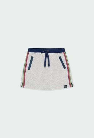 Fleece skirt with stripes for girl_1