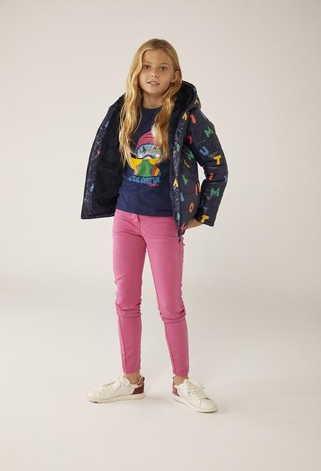 """Camiseta punto """"esquiadora"""" de niña_1"""