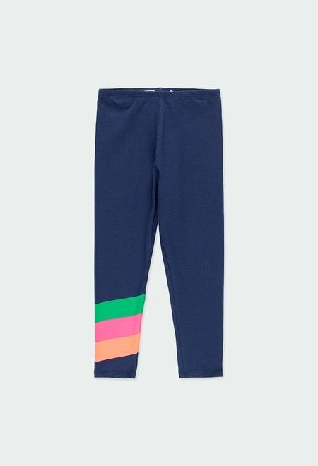 Leggings knit with stripes for girl_1