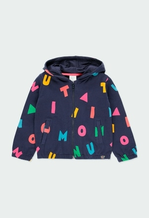 "Fleece jacket ""letters"" for girl_1"