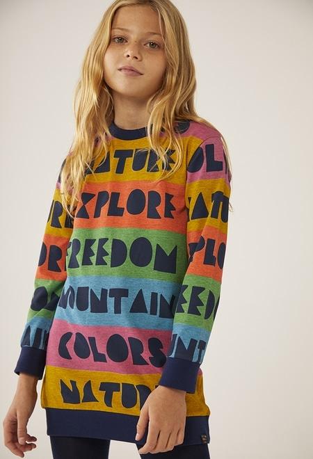"Robe ""lettres"" pour fille_1"