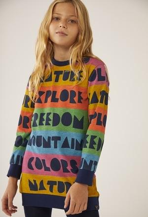 """Vestito jersey """"lettere"""" per ragazza_1"""