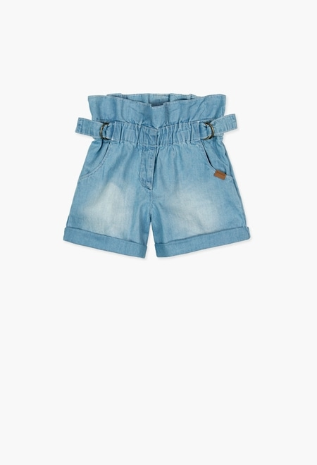 Denim bermuda shorts for girl_1