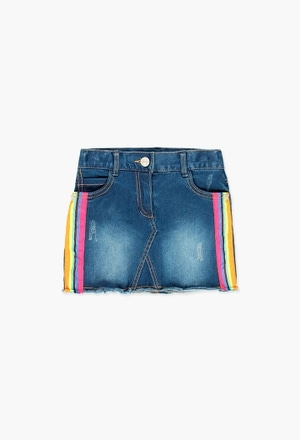 Denim stretch skirt for girl_1