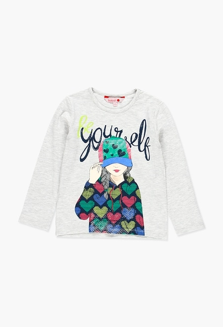 Stretch knit t-Shirt for girl_1