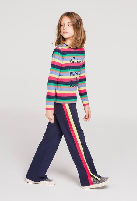 Pantalón punto elástico de niña_1