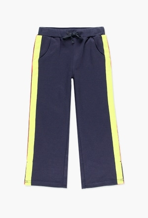Stretch knit trousers for girl_1