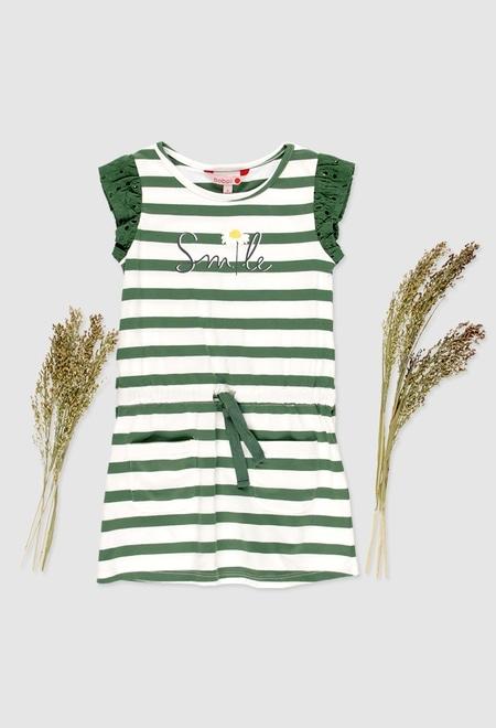 Knit stretch dress for girl_1