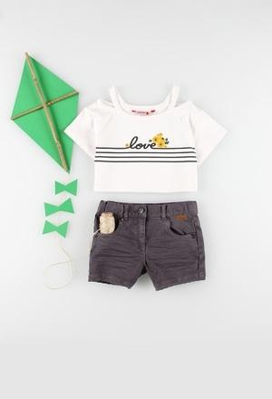 Camiseta punto elástico de niña_1