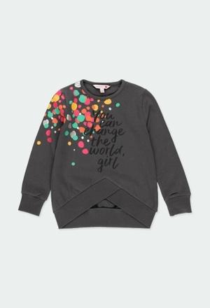 Knit t-Shirt polka dot for girl_1